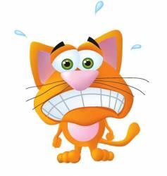 worried cat vector image vector image