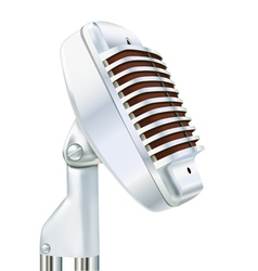 Aluminum microphone on a white vector image