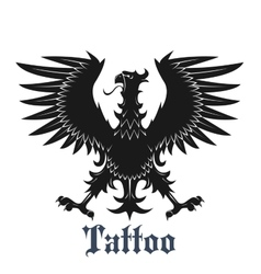 Black heraldic eagle with outstretched wings vector image vector image