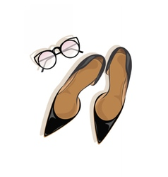 Black High Heels stiletto shoes vector image vector image