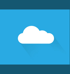 cloud sky icon cloud icon on sky background flat vector image