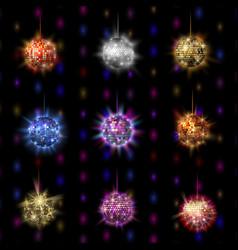 disco ball discotheque music party night club vector image