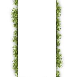 Fir Twig Banner vector image