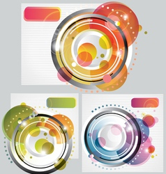 set of Modern Abstract Backgrounds vector image vector image