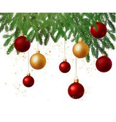 christmas tree decoration background vector image vector image