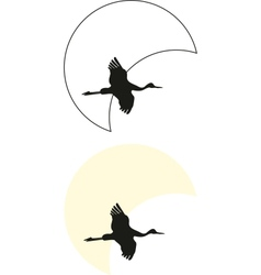 crane silhouettes vector image