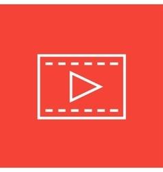 Film frame line icon vector