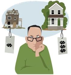 Homebuyer choice vector image