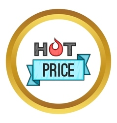 Hot price sticker icon vector image