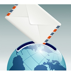mailbox in the form of planet earth vector image