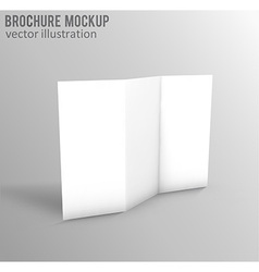 white mockup broshure 3d with shadow vector image