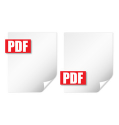 2 wrapped sheet pdf vector image