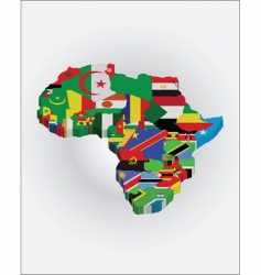 3d Africa map vector image