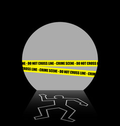 a crime scene in the dark tunnel vector image