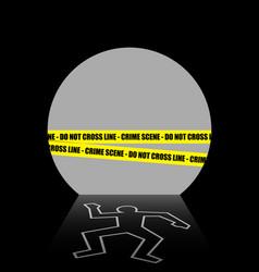 A crime scene in the dark tunnel vector