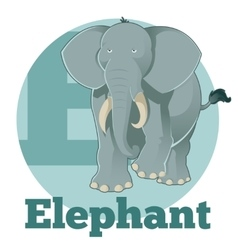 ABC Cartoon Elephant vector image