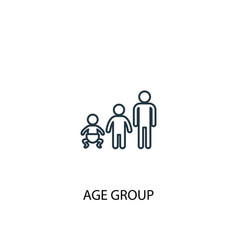 age group concept line icon simple element vector image