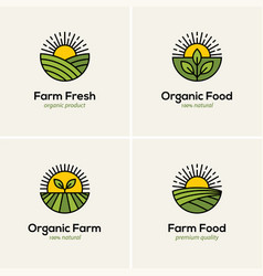 Agriculture and farming logo set vector