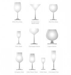 alcoholic glass vector image
