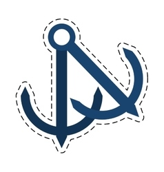 Anchor nautical travel maritime cut line vector