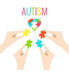 autism awareness poster vector image