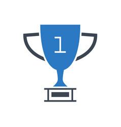 Award line glyph icon vector