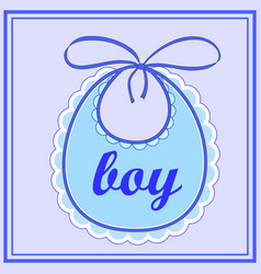 baby bib for boy vector image