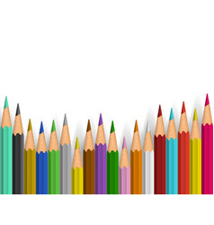 background with color pencils vector image