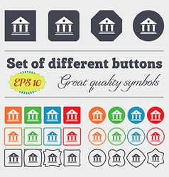 bank icon sign Big set of colorful diverse vector image
