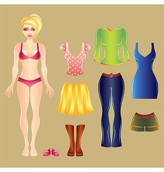 barbie white clothes set vector image
