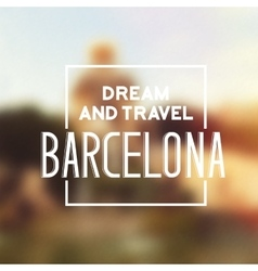 Barcelona travel print vector image