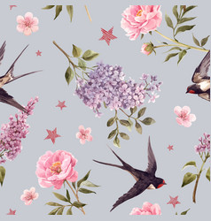 beautiful gentle spring seamless floral vector image