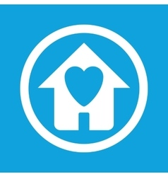 Beloved house sign icon vector