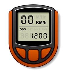 bicycle speedometer computer vector image