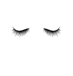 black eyelashes isolated on white background vector image