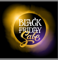 black friday sale banner typography with eclipse vector image