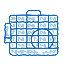Cage for hamster doodle icon hand drawn vector