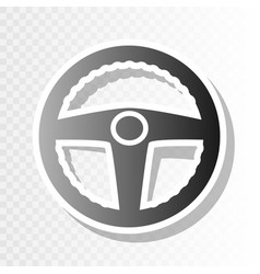 car driver sign new year blackish icon on vector image