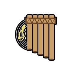 Cartoon flute recorder music instrument vector