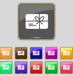 Certificate icon sign Set with eleven colored vector