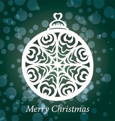 christmas toy snowflake handmade vector image