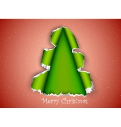 Christmas tree made of torn paper vector