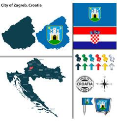 City zagreb croatia vector