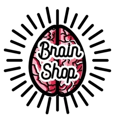 Color vintage scientific shops emblem vector image