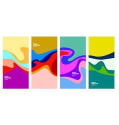 Colorful curvy liquid background for banner vector