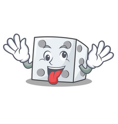 Crazy dice character cartoon style vector
