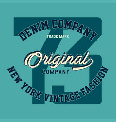 denim company original vector image
