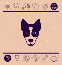 dog - logo symbol protect sign vector image