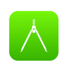 drawing compass icon digital green vector image