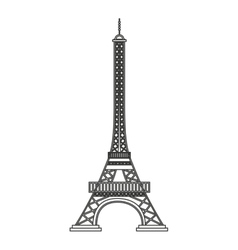 eiffel tower paris landmark vector image